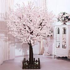 Fake Cherry Blossom Tree With Lights Amazon Com J Beauty White Artificial Cherry Blossom Tree