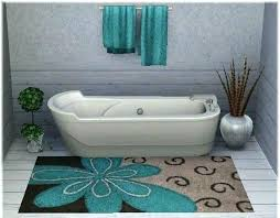 bathroom rugs brown and blue rug how to wash without rubber backing cotton bath