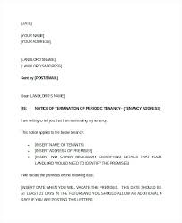 Sample Letter To Landlord To Terminate Lease Early Letter From Landlord To Tenant Terminate Lease Writing A Notice