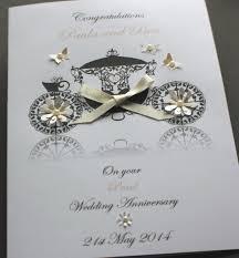 Personalised Handmade Wedding Anniversary Card 25th 30th 40th 45th