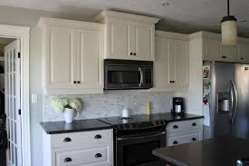 kitchen ideas white cabinets black appliances. White Cabinets With Gray Backsplash Kitchen Ideas Black Appliances