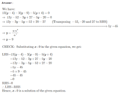 linear equations in one variable rs aggarwal cbse class 7 solutions