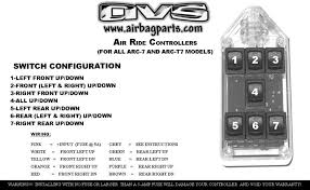 avs avs arc 7 bk 7 rocker series air suspension switch controller switch configuration guide