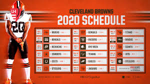 the 2020 browns schedule game wfny