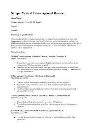 medical billing coding cover letter samples medical transcription gallery of medical transcription resume examples