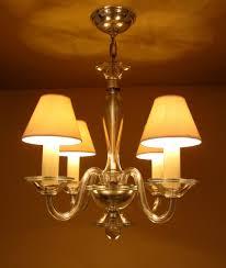 1940s hollywood regency all glass chandelier by lightolier