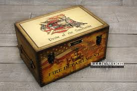custom fire department keepsake box 139 00 customized fire department gifts
