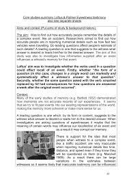 doc loftus and palmer summary