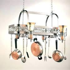 hanging pot rack light fixture s bulb cord holder kitchen pot hanging rack