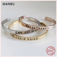 <b>MANBU</b> New <b>Fashion</b> Custom Bangles For Women <b>925</b> Sterling ...