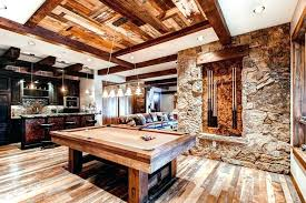 Rustic Basement Ideas Classy With Interior Home Trend Ceiling