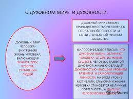 Презентация на тему ДУХОВНЫЙ МИР ЛИЧНОСТИ УРОК ПО  4 О