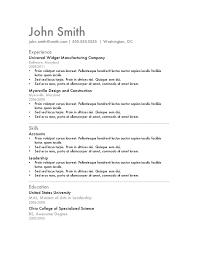 Resume Template 2015 Resume Template John Smith Free Resume Template