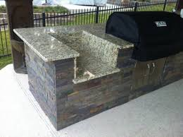 just about done with my outdoor kitchen diy granite grill hot