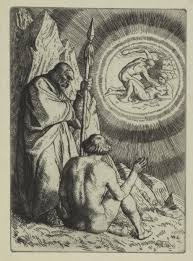 biblion frankenstein essay moeck michael sets before adam a vision an illustration from paradise lost by john milton a series of twelve illustrations 1896