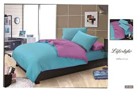 furniture color matching. double purple and blue color matching 100 pure cotton bed sheet quilt cover pillow cases furniture m