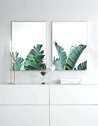5 piece wall art canada two beau tropical decor plant banana leaf trees minimalist of