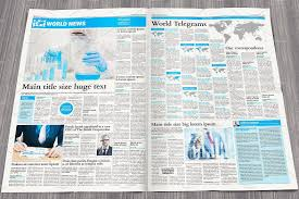 Creative Newspaper Template Broadsheet Newspaper Template Assigned Separate Section