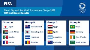نتائج قرعة أولمبياد طوكيو 2020.. السعودية بمجموعة البرازيل.. ومصر مع  إسبانيا والأرجنتين