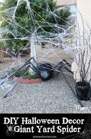diy lawn decor giant spider in spiderweb