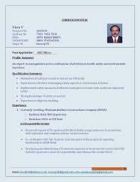 Safety Officer Resume Sample Project Officer Cv Rome Fontanacountryinn Com