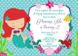 Printable Princess Ariel The Little Mermaid Birthday Party Etsy