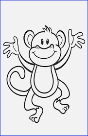 1st Birthday Coloring Pages Free Printable Monkey Coloring Page Cj