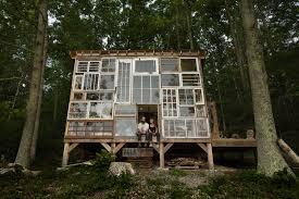 Cabin Windows Cozy Mountain Cabin Built From Repurposed Windows Costs Just 500 6802 by uwakikaiketsu.us