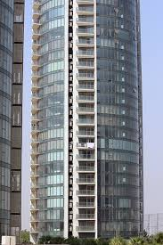 sun court residential towers glass curtain walls with shadow boxes