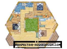 Floor Plan Hexagon House Contemporary Home 059h 0142 Hexagonal Hexagon House Plans