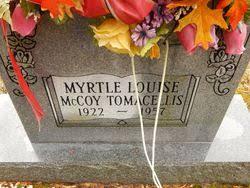 Myrtle Louise McCoy Tomacellis (1923-1957) - Find A Grave Memorial