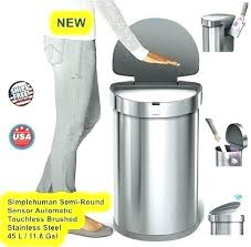 countertop trash can trash can mini brushed stainless steel swing countertop trash chute cover