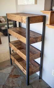 industrial metal and wood furniture. Cozy Wood And Metal Shelves Diy Uk On Wheels Wall Floating Kitchen With Plans 13 Industrial Furniture L
