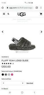 Ugg Fluff Yeah Slide Ladies Slippers Size Uk 8 Ebay