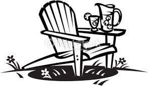 adirondack chair silhouette. Adirondack Chair : Vector Art Silhouette E
