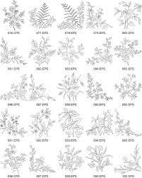 線画ベクター図 4 の花型 無料素材イラストベクターのフリーデザイナー