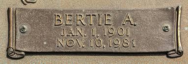 Bertie A. Hamm Hamilton (1901-1981) - Find A Grave Memorial