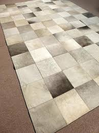 grey cowhide patchwork rug 200 x 300 cm 2