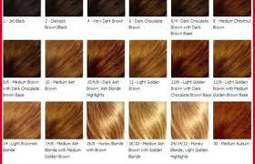 Orange Hair Colour Chart