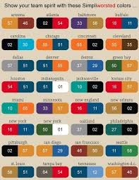 Nfl Football Team Color Chart So Find Your City Name Get