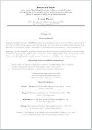 Restaurant Resume Template Sample Restaurant Resumes Restaurant Resume Examples Hostess Job