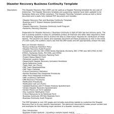 Disaster Recovery Test Report Template And Simple Free Plan For ...