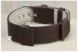 brown rebel watch bracelet hirsch version of the nato strap natural leather