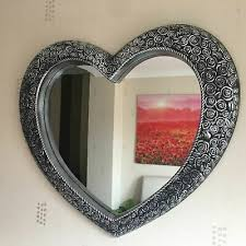 antique style ornate heart wall mirror