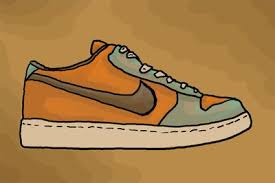 nike shoes drawings. color the nike shoe to complete drawing. shoes drawings o