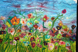 Impressionist style art quilt – Barbara Harms Fiber Art & 'Impressionist style art quilt' Adamdwight.com