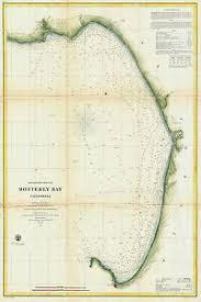 California Nautical Charts Details About 1857 Nautical Chart Us Coast Coastal Survey Map Decor Monterey Bay California