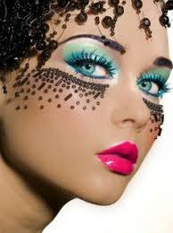 looks in less than exotic deled colorful well blended inspired exotic blue theatre makeup