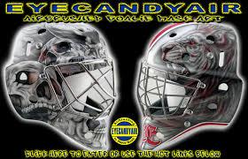 custom airbrush painting by goalie mask specialist steve nash factory authorized custom goalie helmet
