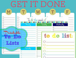 Cute Lists Free Printable To Do Lists Cute Colorful Templates